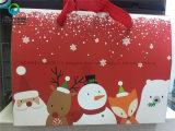 Rectángulo de empaquetado de papel 2017 del regalo de la galleta con la cinta para la Navidad