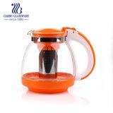 Оптовая торговля пластиковую рукоятку стекла с Teapot Infuser из нержавеющей стали (ГБ1133-4)