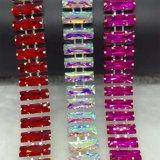 Het kleurrijke In orde maken van de Ketting van de Kop van het Bergkristal van het Kristal van de Rechthoek voor de Toebehoren van de Kleding