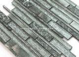 Nouvelle texture argenté brillant effet décoration murale carrelage en mosaïque de verre