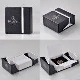 Venda a quente novo estilo de caixa de papelão preta caixa de jóias de papel