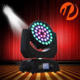 36*10W RGBW 4in1の洗浄ズームレンズのオーラLEDの移動ヘッドライト