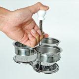 L'oeuf braconnier, trois grille acier inoxydable le braconnage des oeufs d'une cuisinière Pot Panier vapeur pour une surface de cuisson Cuisson des oeufs ESG10537