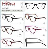 Bril Nieuwe Eyewear van het Frame van de Oogglazen van de Vrouwen van de Mannen van het Metaal van de acetaat de Optische