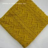 Le tricot Hollow Out spandex polyester jacquard tissu à mailles