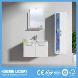 Casa de banho moderna com armários de espelho de LED e luz azul vaidade lateral HS-M1109-600