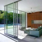Portello di comitato scorrevole di alluminio esterno interno di vetro del doppio di profilo del metallo