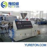 65/132 de PVC de doble tornillo cónico en polvo de la máquina de extrusión de perfiles de plástico