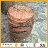 建築材料のための普及した中国の多色刷りの赤い花こう岩のタイル
