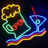 La marque de bière/vin introduisent le signe au néon de constructeur de Signage