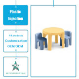 Tableau extérieur personnalisé de meubles de jardin de produits en plastique et moulage par injection réglé de présidence