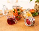 125ml熱い販売のケイ素およびクリップふたが付いている野菜維持のガラス食糧記憶の瓶