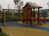 Bello giocattolo divertente del bambino ad ovest di stile per il campo da giuoco di legno popolare del bambino