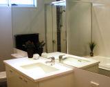 Specchio d'argento indietro filmato vinile di sicurezza per la stanza del bagno