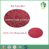 Риса дрождей 100% чисто естественный 0.2%~5% Monacolin k красных