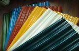 Folha ondulada colorida da telhadura/chapa de aço Corrgated da cor/material de construção