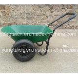 5 kubieke van de Groene Poly van het Dienblad Voeten Kruiwagen van de Tuin met 2-wielen