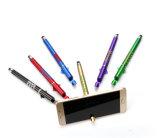 Bolígrafos promocionales de múltiples funciones al por mayor del sostenedor del teléfono/de la pluma de la capacitancia con la insignia o el código de Qr modificado para requisitos particulares