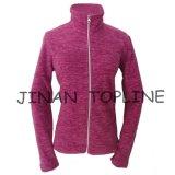 女性の長い袖のマイクロ羊毛の細付属品の方法ジャケット