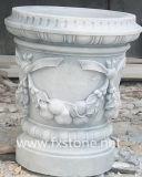 Reiner weißer Marmor geschnitzter Blumen-Potenziometer (MFP-003)
