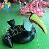 Поплавок бассеина птицы лебедя донута раздувной игрушки бассеина плавая большой