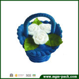 Elegante Blue Small Flocking Packaging Jewelry Gift Box