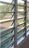 Claro cristal de la ventana de persiana