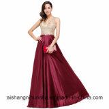 Платье выпускного вечера платьев вечера V-Шеи шнурка длиннее сексуальное открытое назад
