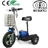 Anziani tre della rotella del motorino elettrico di mobilità con Ce