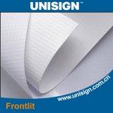기치를 광고하는 Unisign 최고 매끄러운 PVC에 의하여 박판으로 만들어지는 Frontlit