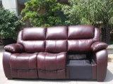 本革のリクライニングチェアのソファー(850)
