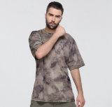 Manches courtes à l'extérieur T-shirt à camouflage Slim Camouflage résistant à l'usure respirante
