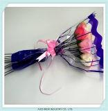 부대 단 하나 로즈 꽃 소매를 감싸는 주문을 받아서 만들어진 OPP 플라스틱 꽃 포장 부대