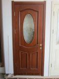Porte en bois intérieure avec le panneau en verre (KD12B-G) (porte de panneau en verre)