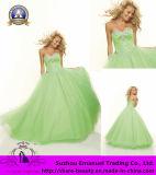2014 Lujoso Organza vestido de bola de cristal de la Princesa vestidos de fiesta de lentejuelas dulces (102210)