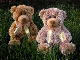 """Hi 12"""" Beige ours en peluche de ruban un jouet en peluche"""