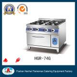 Rango de gas de 4 hornillas con el horno de gas (HGR-74G)