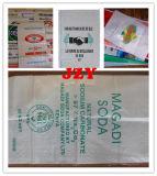 Sac à papier d'emballage avec le film tissé par pp pour la matière première en plastique, plastique