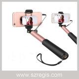 Bastone pieghevole di Monopod Selfie del telefono mobile di 360 rotazioni con cavo