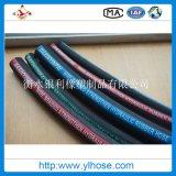Quatro fios de borracha flexível hidráulico de Aço Tubo Spiraled