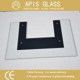 8mm de vidrio templado de impresión para la puerta del horno de microondas