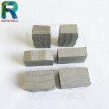 Segmentos del diamante para el corte por bloques de piedra duro del mármol del granito