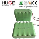 bateria de 12V 12*AA Ni-MH com fio (KBL-12NiMH)