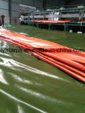 Strato verde della Cina/arancione militare della tela incatramata del PE, poli coperchio del camion della tela incatramata