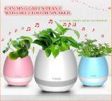 Florero de la música del altavoz de Bluetooth de la flor de la música con las luces del color LED de Muitl