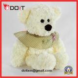 Urso de pelúcia Ursinho Urso de brinquedo com bordados roupas de flores