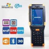 Windows CE Handheld scanner de códigos de barras y lector de tarjetas RFID