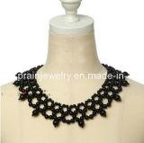 Collar Collar negro falso bisutería Conjunto de collar chapado en oro de aleación de Collar Collar Bisuteria Collar artesanal (Pnc-006)