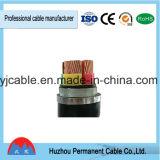 Câble d'alimentation blindé électrique de fil d'acier d'isolation de PVC