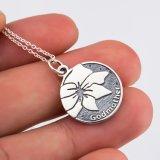 Collana del regalo delle 925 dell'argento sterlina della madrina del fiore della collana dell'annata madri eleganti Pendant genuina dei monili